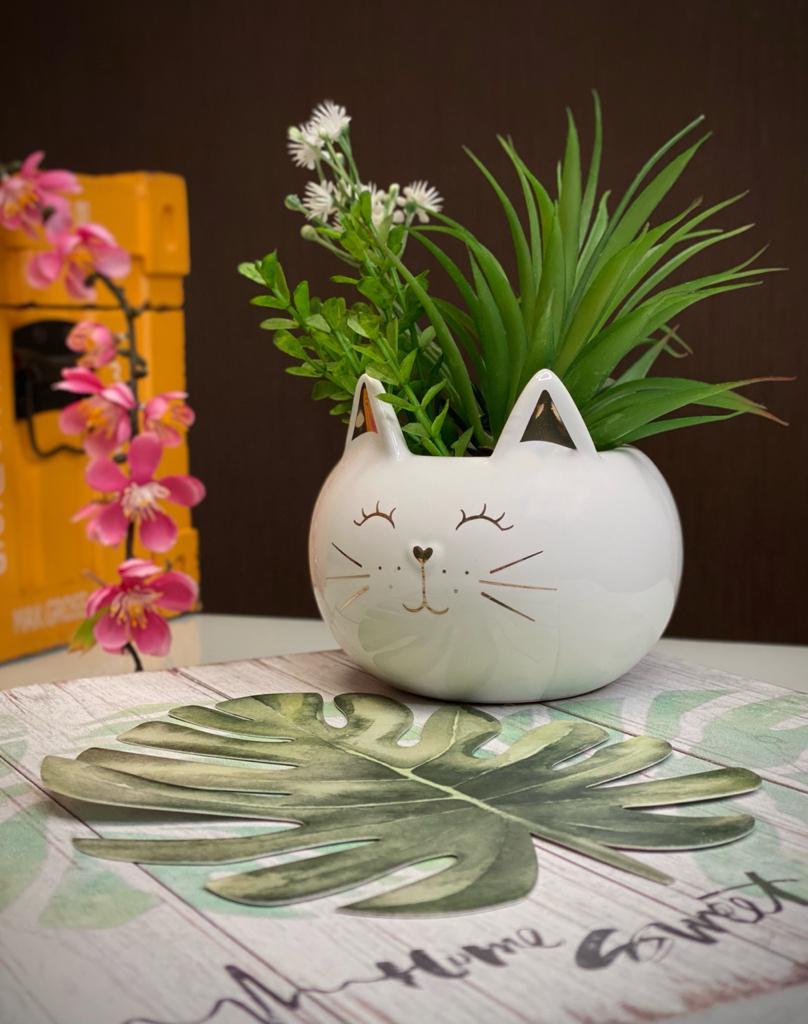 Vaso Planta Cachepot Pet Gato Gatinho