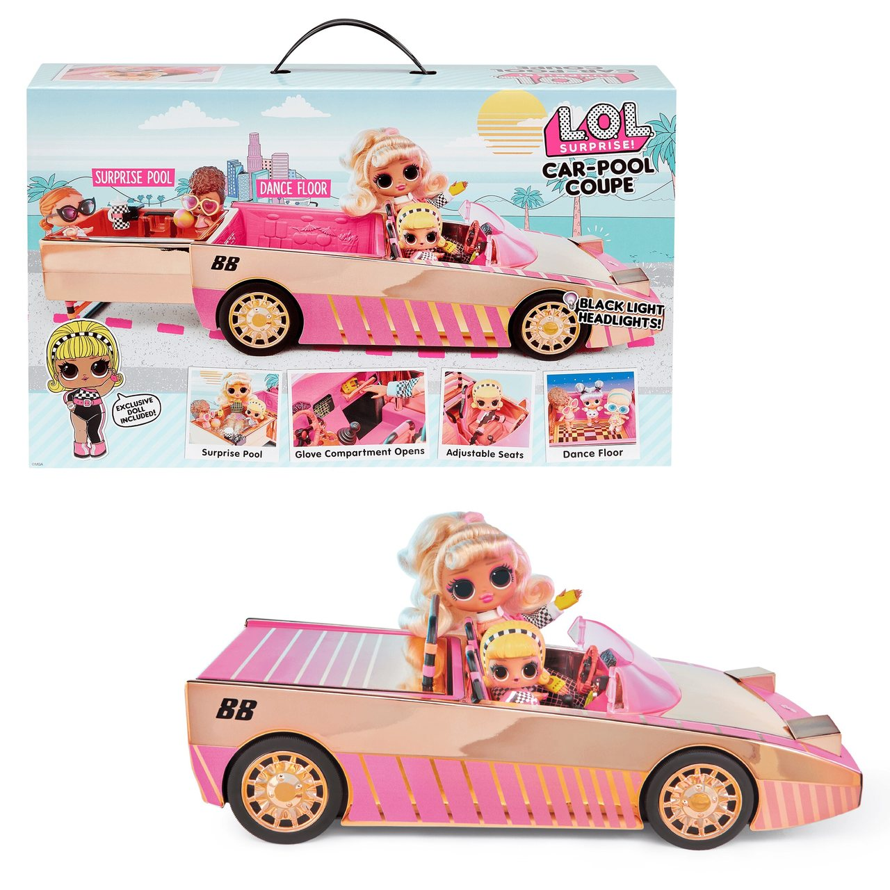 Veículo LOL Surprise: Car Pool Coupe  - Candide