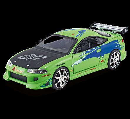 Velozes e Furiosos: Brian´s Mitsubishi Eclipse - Die Cast (Escala 1/24) - DTC