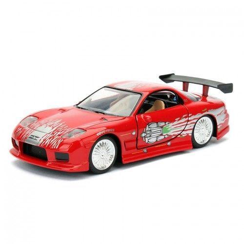 Velozes e Furiosos: Dom's Mazda Rx-7 Die Cast Escala 1/32