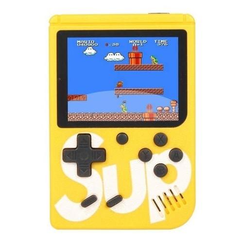Video Game Portatil 400 Jogos Internos - Mini Game Sup Game Box Plus (Amarelo)