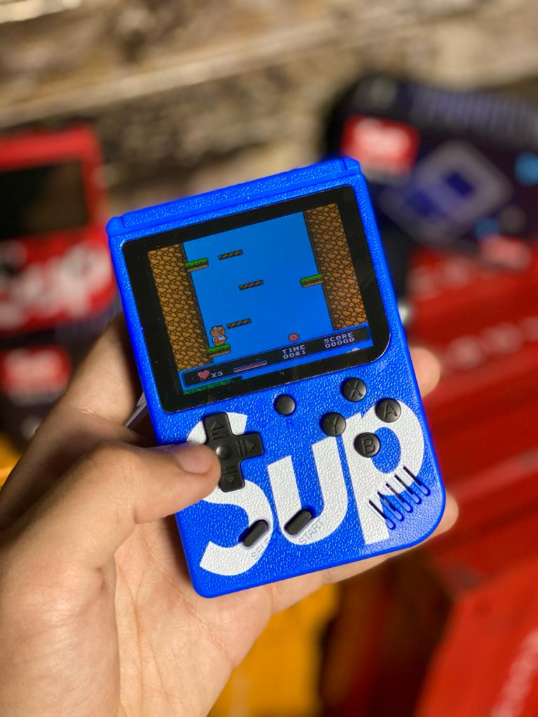 Video Game Portatil 400 Jogos Internos: Mini Game Sup Game Box Plus - PSP RETRO FLIPERAMA ( Azul )