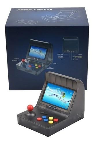 Video Game Retro Arcade Mini Fliperama 3000 Jogos Tela 4.3 Preto - (2 Controles)