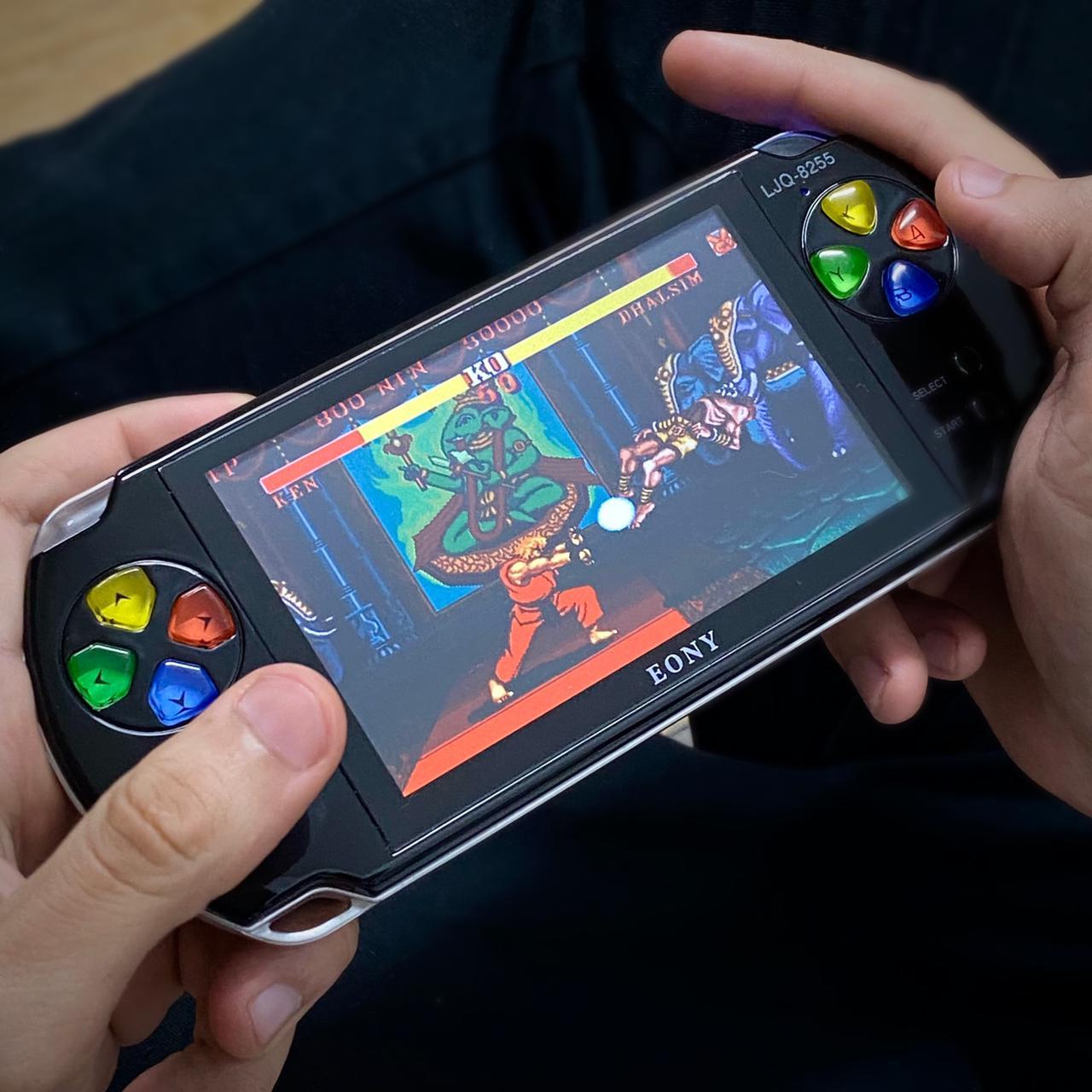 Video Game Retro Portatil: Psp Jogo Nes Mini Fliperama Tela 5.1 ( Preto ) - Eony