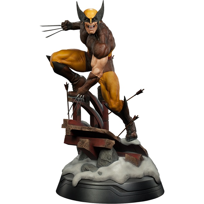 Estátua Wolverine Brown Costume Premium Format Escala 1/4 - Sideshow (Apenas Venda Online)