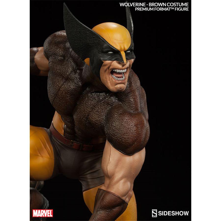 Estátua Wolverine Brown Costume Premium Format Escala 1/4 - Sideshow