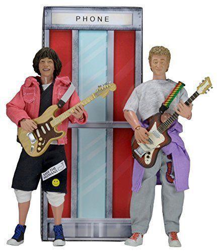 Boneco Bill e Ted: Uma Aventura Fantástica Wyld Stallyns (Clothed Box Set) Escala 1/10 - NECA
