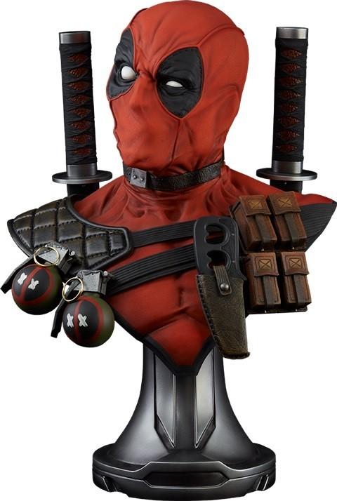 Busto Deadpool Life-Size Bust Escala 1/1 - Sideshow