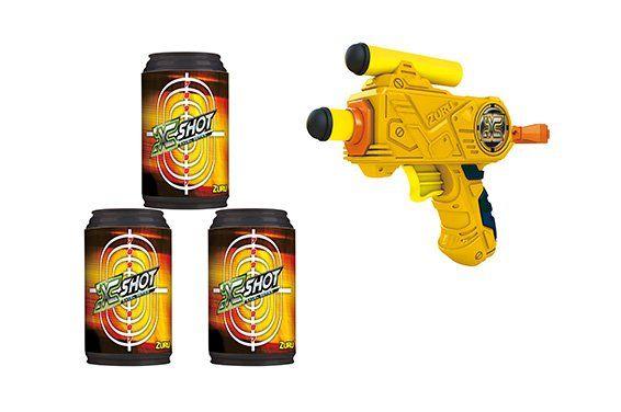 X-Shot Micro com 3 Latas (Lançador de Dardos) - Candide