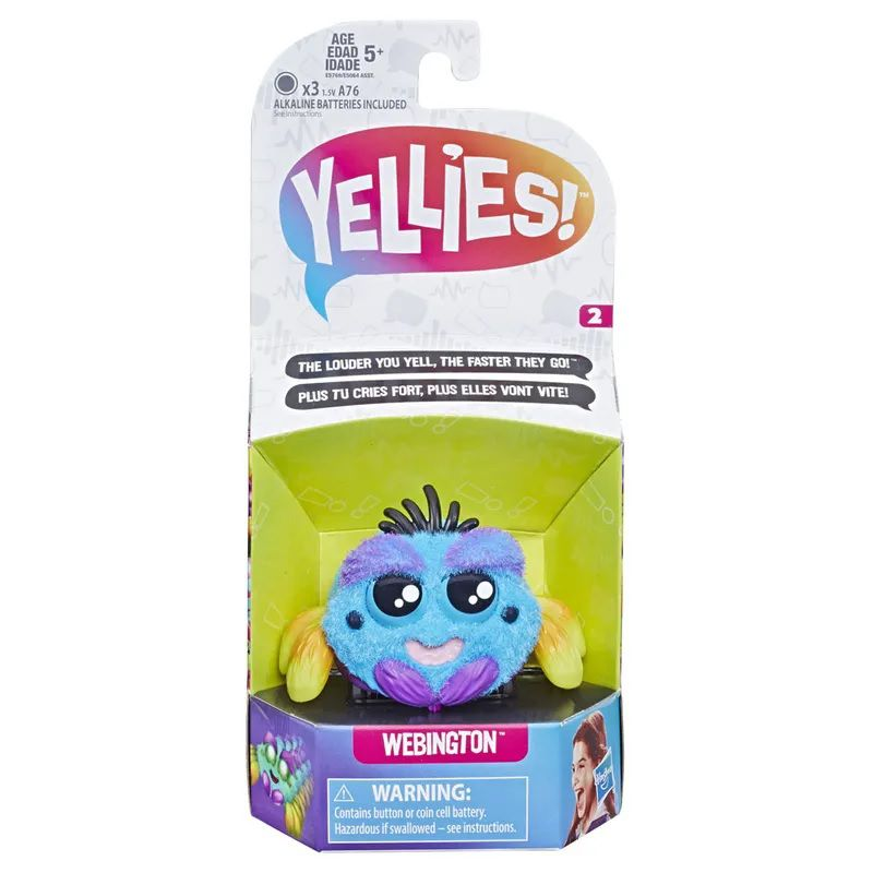 Yellies (Aranha Maluca de Estimação): Webington - Hasbro