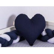 Almofada Coração Azul Marinho