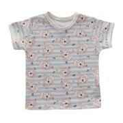 Camiseta Manga Curta Leãozinho Azul Bebê