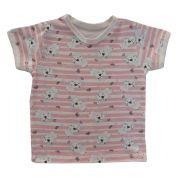 Camiseta Manga Curta Leãozinho Rosa