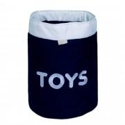 Cesto Organizador Para Brinquedos TOYS Marinho com Cru