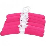 Jogo De Cabides Em Malha Pink