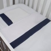 Jogo de Lençol Azul Marinho 03 Peças