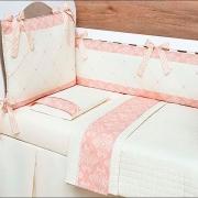 Kit de Berço Amore Rosê 09 Peças