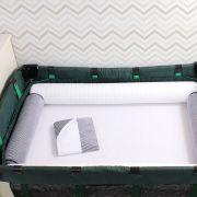Kit de Berço Desmontável 07 Peças Listrado de Marinho com Branco