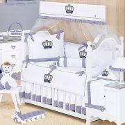 Kit de Berço Realeza Marinho 09 Peças