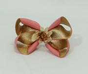 Laço Decorado Rosê com Dourado