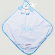 Naninha Cetim Listrado Baby Azul