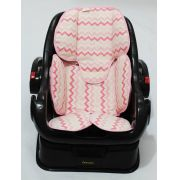 Redutor de Bebê Conforto e Carrinho Chevron Pink