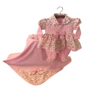 Saída Maternidade Encanto Floral 04 Peças
