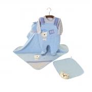 Saída Maternidade Ursinho Azul 05 Peças