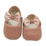 Sapatinho Bebê Laço Rosê