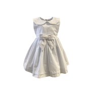 Vestido Batizado Laço Branco
