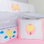 Kit de Berço Balão Rosa 09 Peças