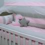 Kit de Berço Dino Cute Rosa 10 Peças