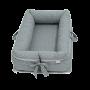 Ninho para Bebê Redutor de Berço com Zíper Triângulo Branco com o Fundo Cinza