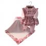 Saída Maternidade Floral Rosa 03 Peças
