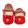 Sapatinho Bebê Flor Vermelho