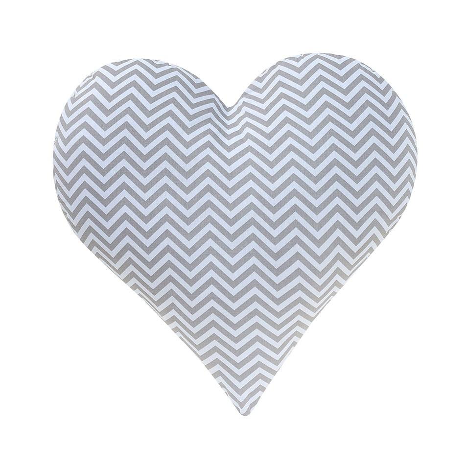 Almofada Coração Chevron