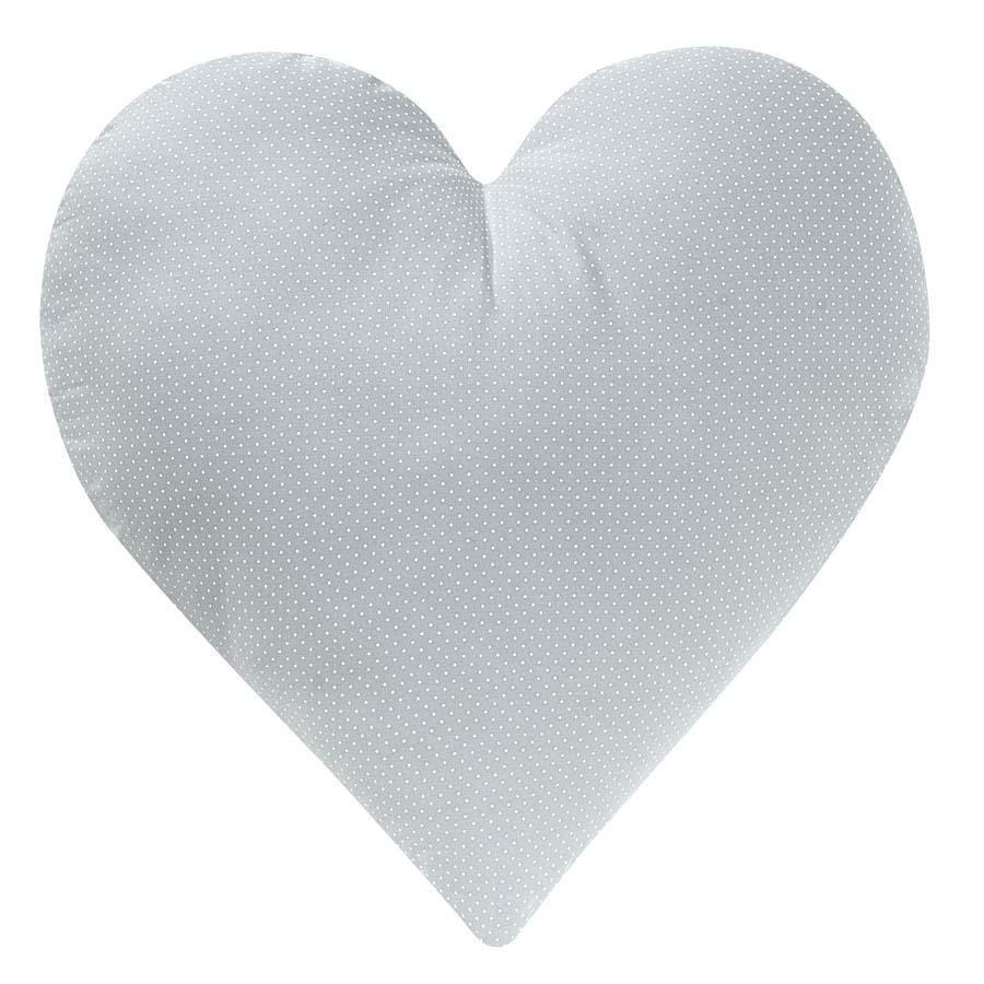 Almofada Coração Poá Cinza