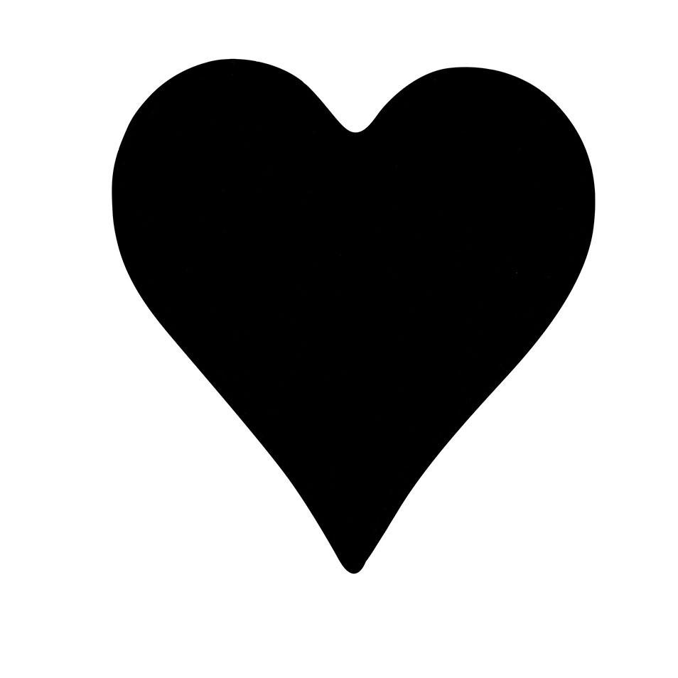 Almofada Coração Preto