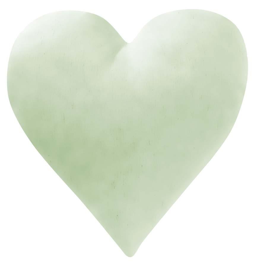 Almofada Coração Verde  - Toca do Bebê