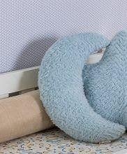 Almofada Felpuda Lua Azul  - Toca do Bebê