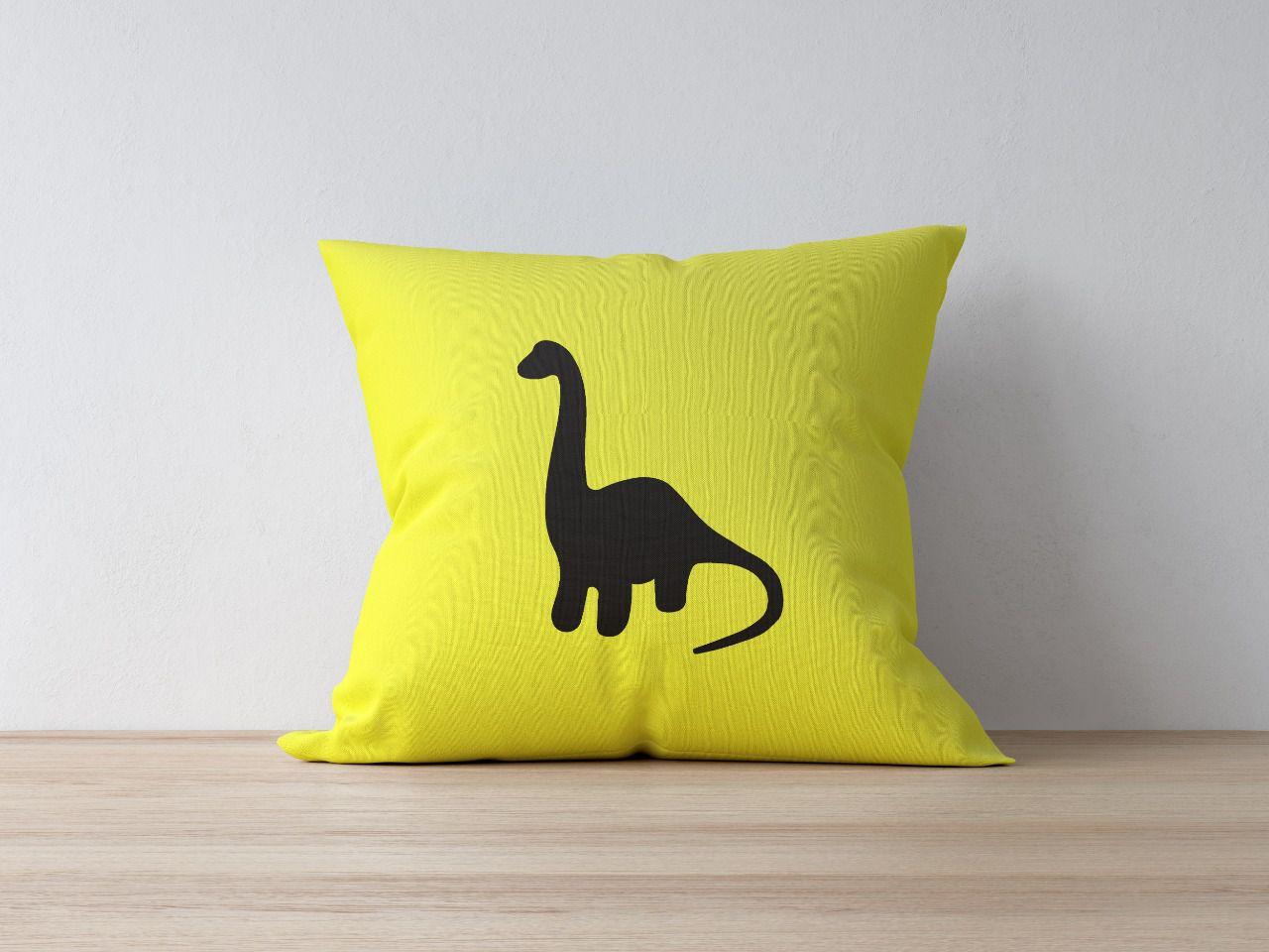 Almofada Branquiossauro Amarelo
