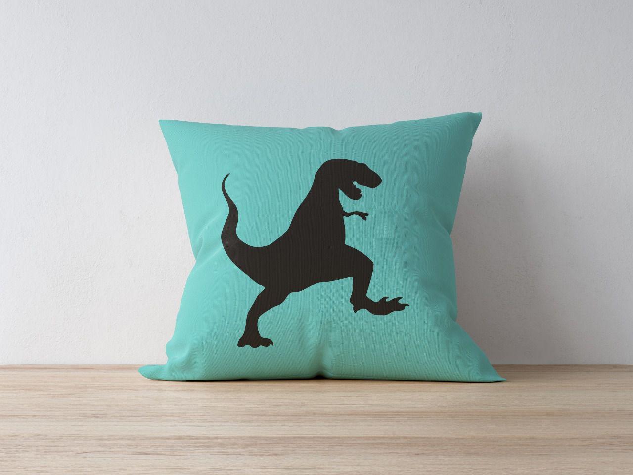 Almofada Dino Rex Verde Thiffany  - Toca do Bebê
