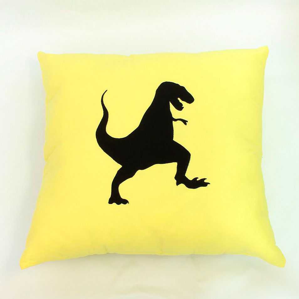 Almofada Dinossauro Rex Amarelo