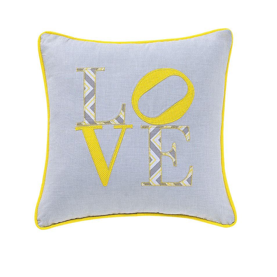 Almofada Love Chevron Amarelo