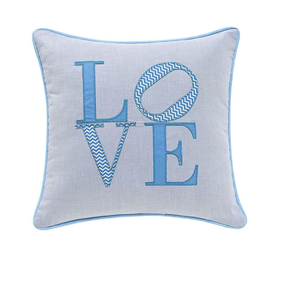Almofada Love Chevron Azul