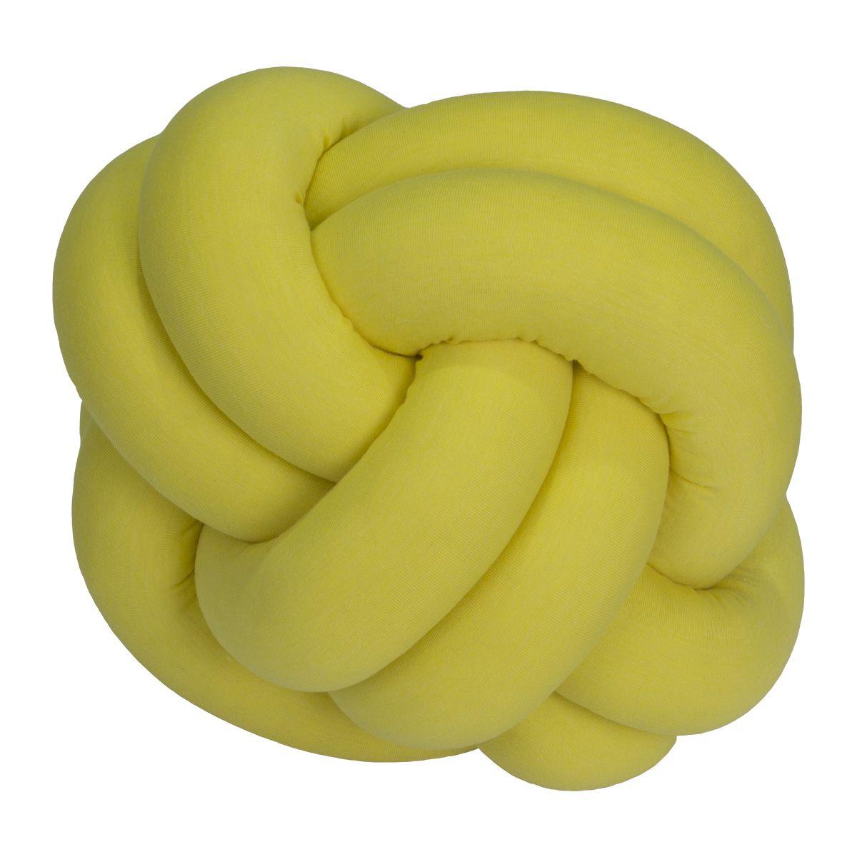 Almofada Nó Amarelo Ouro