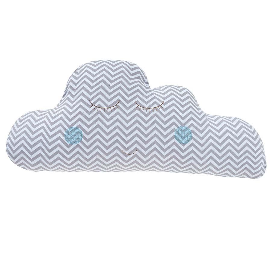 Almofada Nuvem Chevron Azul  - Toca do Bebê