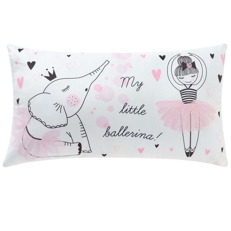 Almofada Retangular Coleção Little Ballerina  - Toca do Bebê