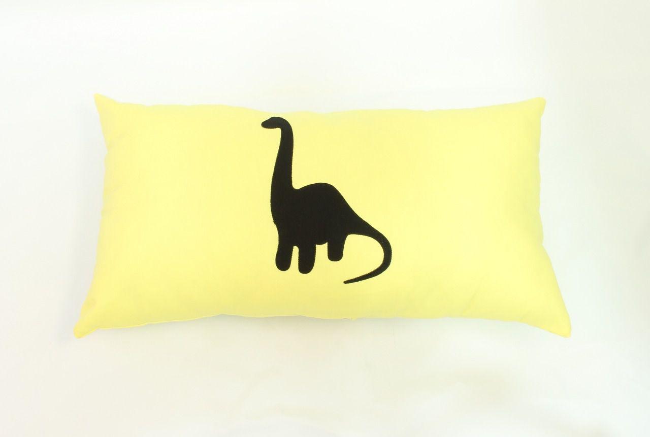 Almofada Retangular Dinossauro Branquiossauro Amarelo