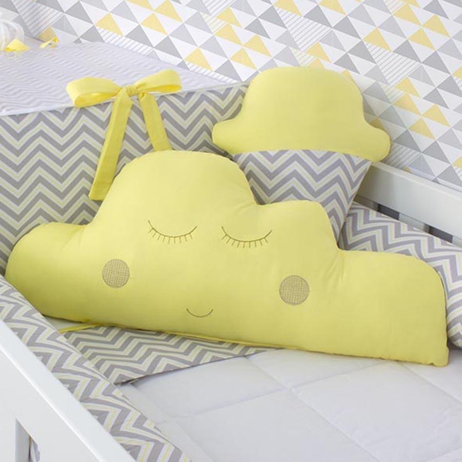 414d366047fef2 Almofada Sorvete Cinza com Amarelo